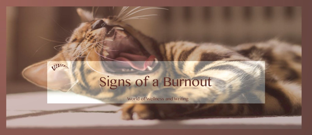 5 signs of a burnout and how to recover and refuel.