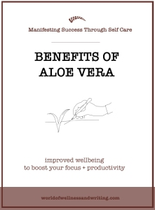 Why take aloe vera? As a freelance writer your energy resources are depleted and pulled in every direction. In your writing, running your business and staying motivated. Drink aloe and stay on tops of your work. Reap the benefits. Why not?