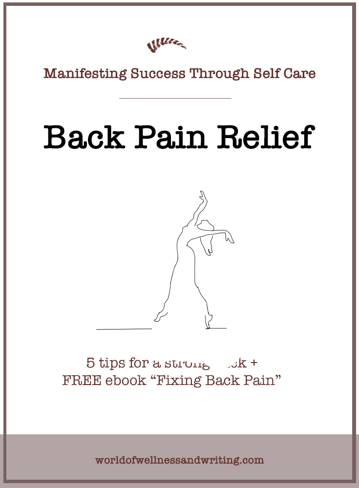 Writers often sit for hours at a desk - discover how to relieve and even heal your back pain - free ebook.