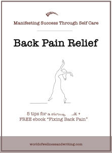 Back pain relief + remedies for desk-bound professionals at home + in the office.