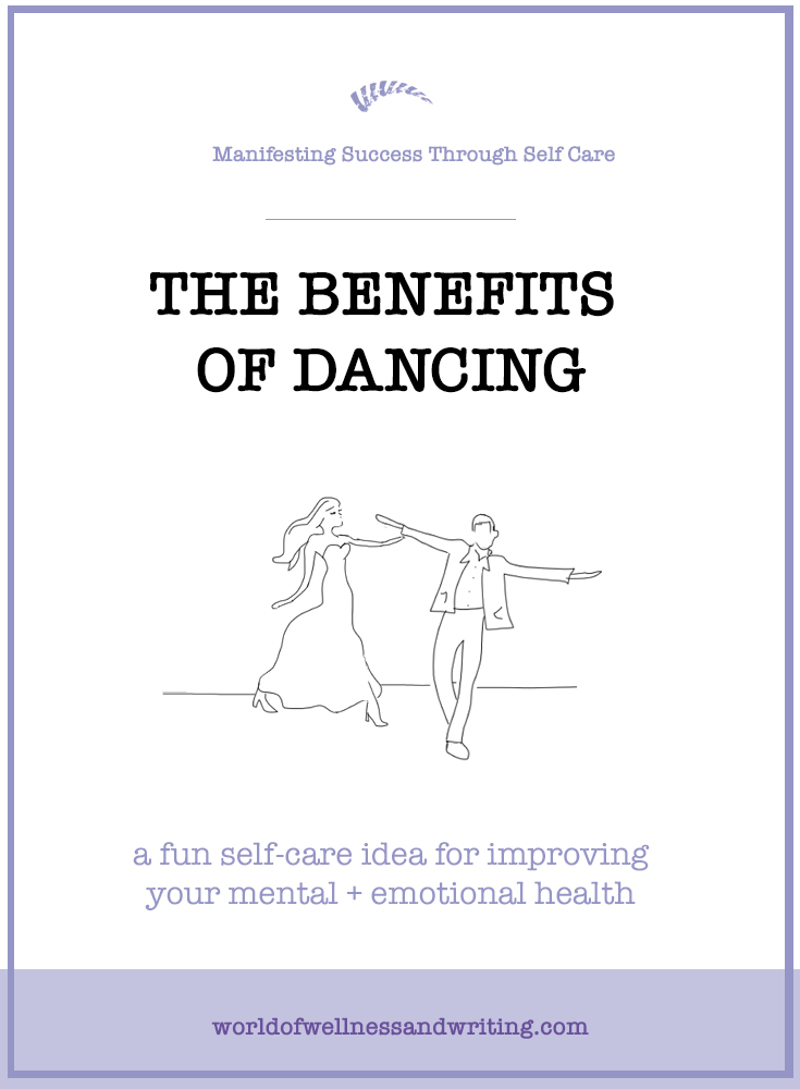 You'll be glad to hear this I'm sure! Dancing is great for your emotional + mental health. It literally keeps you on your toes, improves your focus, memory, happiness and health - plus it's fun! Go on, get dancing, and get writing!
