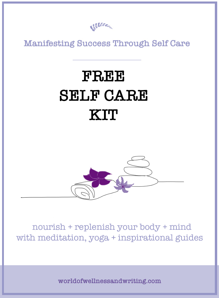 As a creative person you need to refill your well - use this free self care kit. Beat the stress at work + in life, start looking after yourself!
