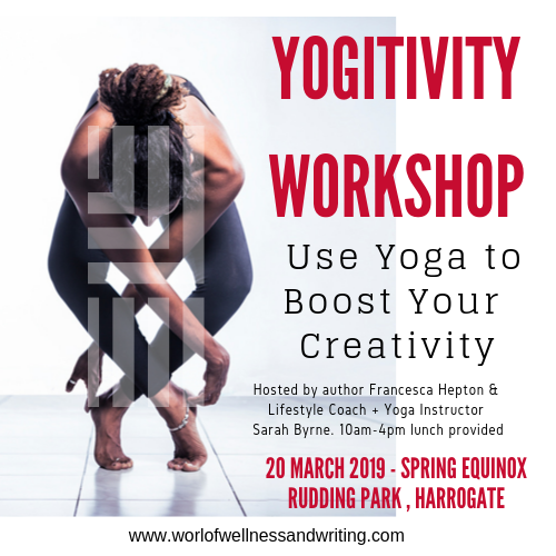 Embracing the benefits of yoga to boost your creativity as a writer. Join one of our Yogitivity Workshops using yoga to improve your creativity as a writer.