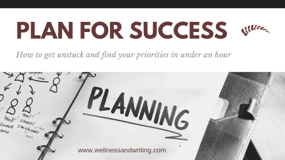 Plan for Success. How to get unstuck and find your priorities in under an hour