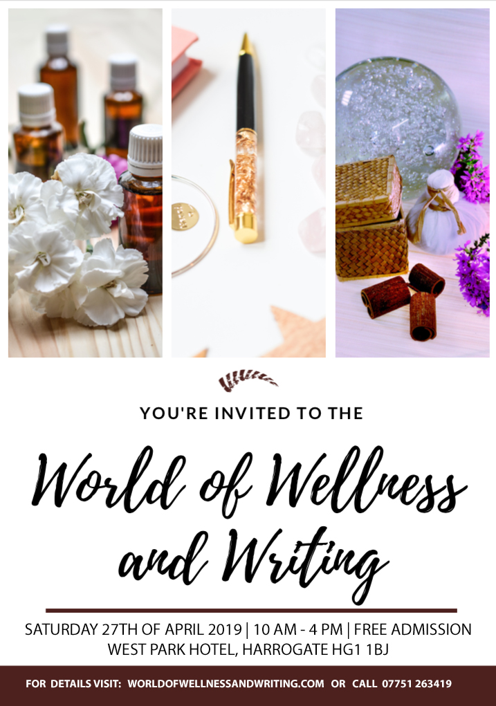 An elegant boutique fair to launch the wellness and writing events is being held in the beautiful spa town of Harrogate